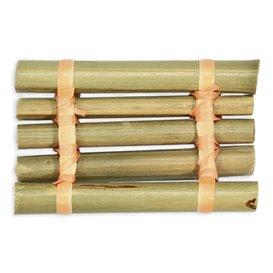 """Mini Vassoio di Bambù """"Zattera"""" 8x5cm (24 Pezzi)"""