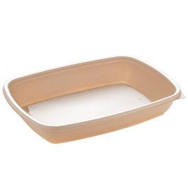 Contenitori di Plastica PP Crema 600ml 23x16,5cm (300 Pezzi)