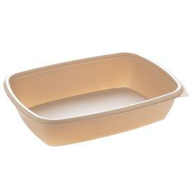 Contenitori di Plastica PP Crema 900ml 23x16,5cm 900ml (75 Pezzi)