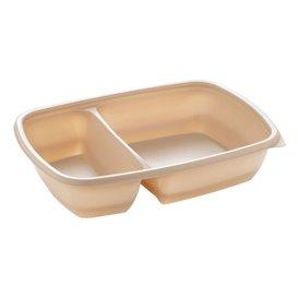 Contenitori di Plastica PP Crema 2S 900ml 23x16,5x5cm (75 Pezzi)