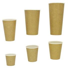 Bicchiere di Carta 100% ECO 22Oz/660ml Kraft Ø9cm (50 Pezzi)