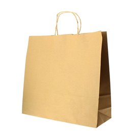 Buste Shopper in Carta Hawanna 100g 32+20x32 cm (50 Pezzi)