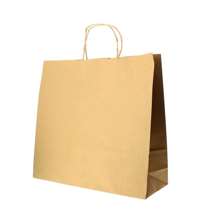 Buste Shopper in Carta Hawanna 100g 28+16x27 cm (50 Pezzi)