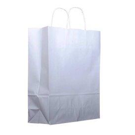 Buste Shopper in Carta Bianca 100g 44+15x46 cm (25 Pezzi)