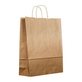 Buste Shopper in Carta Marrone 100g 44+15x46 cm (25 Pezzi)