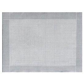 """Tovaglietta di Carta 30x40cm """"Tra le linee"""" Grigio 40g/m² (1000 Pezzi)"""
