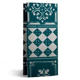 "Tovagliolo di Carta 1/8 33x40cm ""Alhambra"" Turchese Punta-Punta (50 Pezzi)"