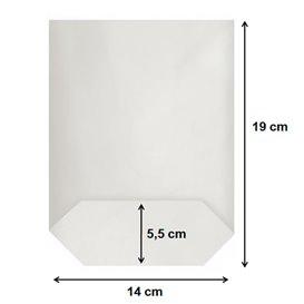 Sacchetto di carta con Base Esagonale Bianco 14x19cm (1000 Pezzi)
