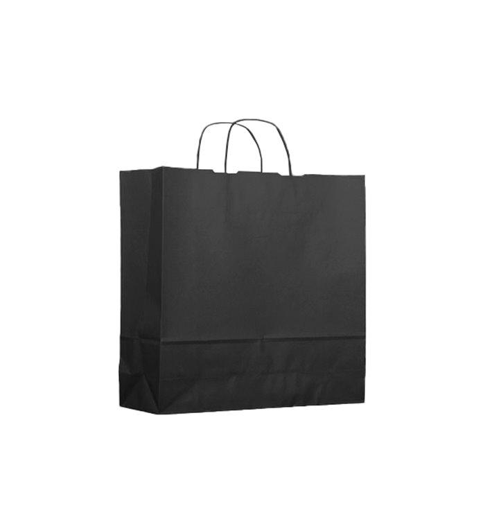 Buste Shopper in Carta Nero 100g 22+9x23cm (200 Pezzi)