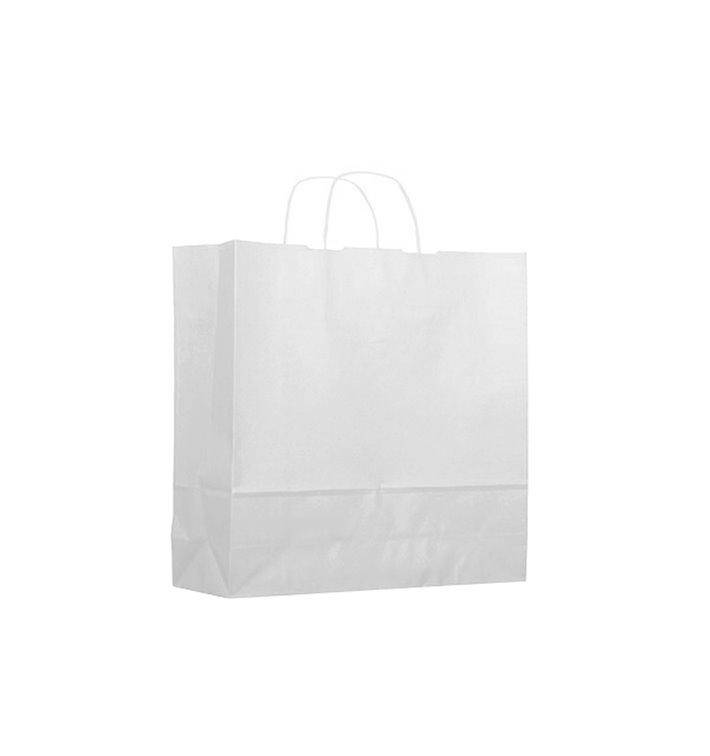 Buste Shopper in Carta Bianca 100g 18+8x24 cm (25 Pezzi)
