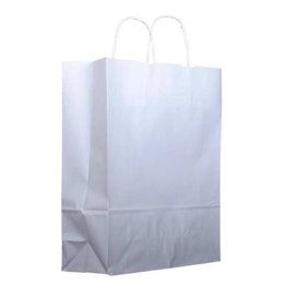 Buste Shopper in Carta Bianca 100g 22+11x27cm (25 Pezzi)