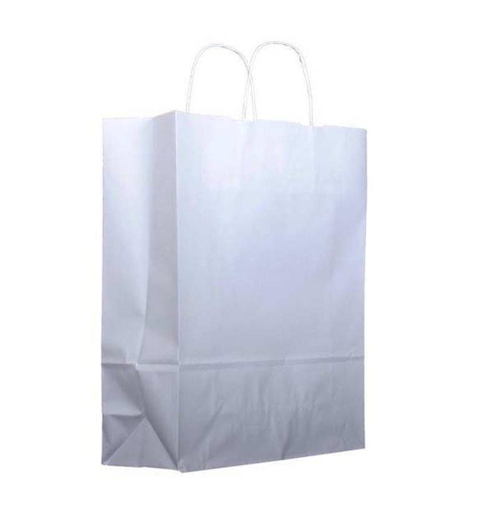 Buste Shopper in Carta Bianca 100g 25+13x33cm (25 Pezzi)