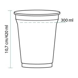 Bicchiere di Plastica Rigida in PET 420 ml Ø9,3cm (50 Pezzi)