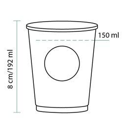 Bicchiere di Carta Vending Eco PLA BioWare 6Oz/192ml Ø7,0cm (100 Pezzi)
