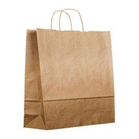 Buste Shopper in Carta Kraft 120g/m² 36+24x39cm (200 Pezzi)