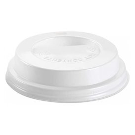 Coperchio con Foro per Bicchiere 7Oz Bianco Ø7,2cm (100 Pezzi)