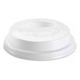 Coperchio con Foro per Bicchiere 7Oz Bianco Ø7,2cm (1000 Pezzi)