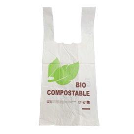 Sacchetto di Plastica Canottiera 100% Biodegradabile 48x60cm 25µm (800 Pezzi)