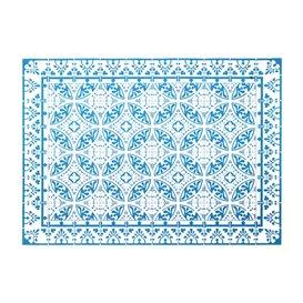 "Tovaglietta di Carta 30x40cm ""Alhambra"" Turchese 50g/m² (1000 Pezzi)"