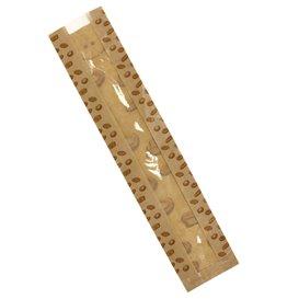 "Sacchetto di Carta Kraft Finestra ""Panes"" 10+5x55cm (125 Pezzi)"