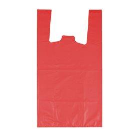 """Sacchetto di Plastica Canottiera 70% Riciclato """"Colors"""" Rosso 42x53cm 50µm (40 Pezzi)"""