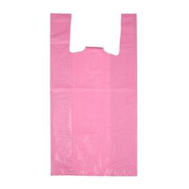 """Sacchetto di Plastica Canottiera 70% Riciclato """"Colors"""" Rosa 42x53cm 50µm (40 Pezzi)"""