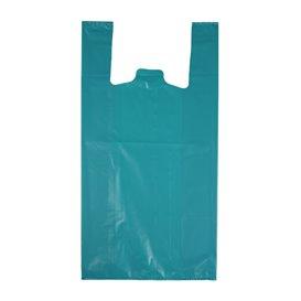 """Sacchetto di Plastica Canottiera 70% Riciclato """"Colors"""" Blu 42x53cm 50µm (40 Pezzi)"""