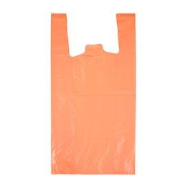 """Sacchetto di Plastica Canottiera 70% Riciclato """"Colors"""" Arancio 42x53cm 50µm (40 Pezzi)"""