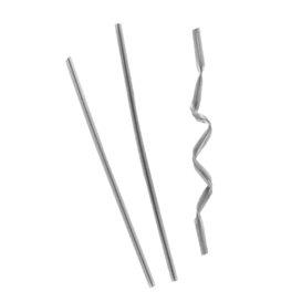 Chiusura per Sacchetti Metallo Argento 9,5cm (1000 Pezzi)