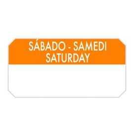 """Rotolo Adesivo Rettangolare """"Saturday"""" 5x2,5cm (1.000 Pezzi)"""