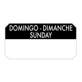 """Rotolo Adesivo Rettangolare """"Sunday"""" 5x2,5cm (1.000 Pezzi)"""