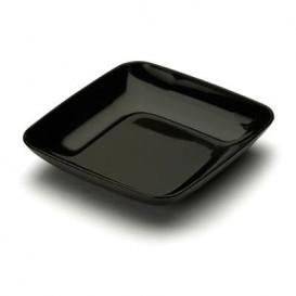 Piattino Plastica Degustazione Quadrato Nero 6x6x1 cm (50 Pezzi)