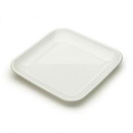 Piattino Plastica Degustazione Quadrato Bianco 6x6x1 cm (50 Pezzi)