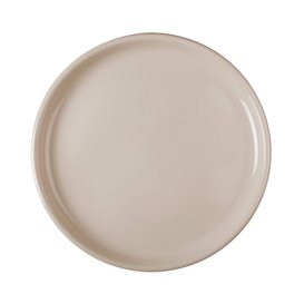 Piatto di Plastica per Pizza Beige Round PP Ø350mm (12 Pezzi)