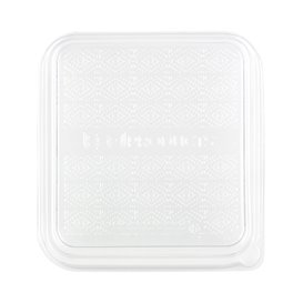 Coperchio PLA Contenitori di Canna da Zucchero 18,5x18,5cm (50 Pezzi)