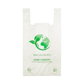 Sacchetto di Plastica Canottiera 100% Biodegradabile 50x55 cm (100 Pezzi)