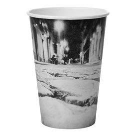 """Bicchiere di Carta 16 Oz/500ml """"Parisian"""" Ø8,9cm (50 Pezzi)"""