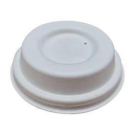 Coperchio in Fibra di Cellulosa Modellata Bianco Ø6,2cm (50 Pezzi)