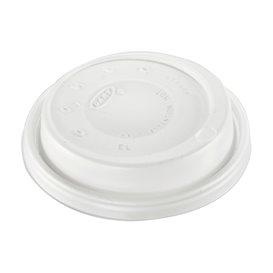 """Coperchio di plastica PS """"Cappuccino"""" Bianco Ø8,6cm (1000 Pezzi)"""