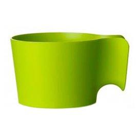 PortaBicchiere di Plastica Verde Lime (96 Pezzi)