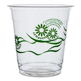 "Bicchiere PLA ""Green Spirit"" Trasparente 230ml (50 pezzi)"