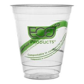 """Bicchiere Amido di Mais PLA """"Green Stripe"""" 355ml (1.000 pezzi)"""