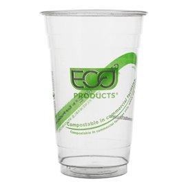"""Bicchiere Amido di Mais PLA """"Green Stripe"""" 590ml (50 pezzi)"""
