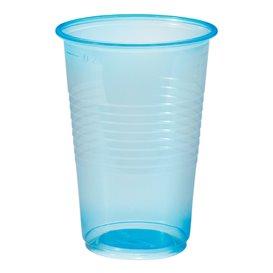 Bicchiere di Plastica PP Blu Transp. 230ml (100 Pezzi)