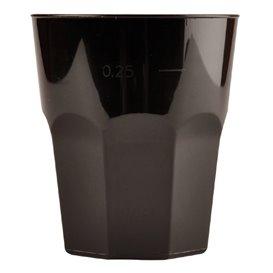 Bicchiere Plastica Cocktail Nero PP Ø84mm 270ml (20 Pezzi)