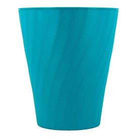 """Bicchiere di Plastica PP """"X-Table"""" Turchese 320ml (128 Pezzi)"""