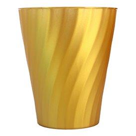 """Bicchiere di Plastica PP """"X-Table"""" Oro 320ml (8 Pezzi)"""