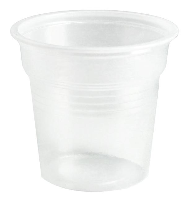 Bicchiere di Plastica PS Trasparente 80ml Ø5,7cm (50 Pezzi)