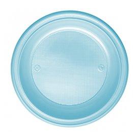 Piatto di Plastica PS Fondo Azzurro Ø220mm (600 Pezzi)