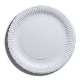 Piatto di Carta Bianco Biodegradabili Ø23 cm (100 Pezzi)
